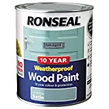 Ronseal 38792 10 Year Weatherproof Paint, Duck Egg Blue, 750ml