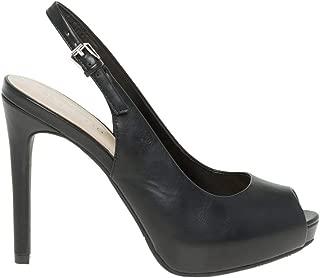 Leather-Like Peep Toe Slingback Sandal