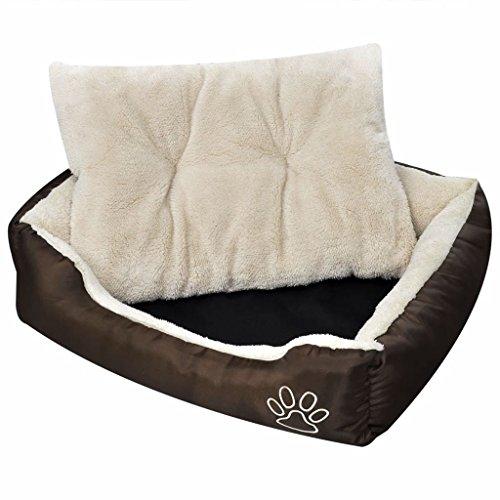 binzhoueushopping hondenbed bruin en beige XXL hondenbed voor kleine honden
