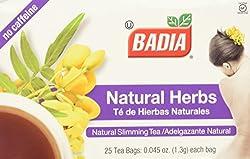in budget affordable Badia – Natural Herbs Natural Caffeinated Slimming Tea – 25 Tea Bags