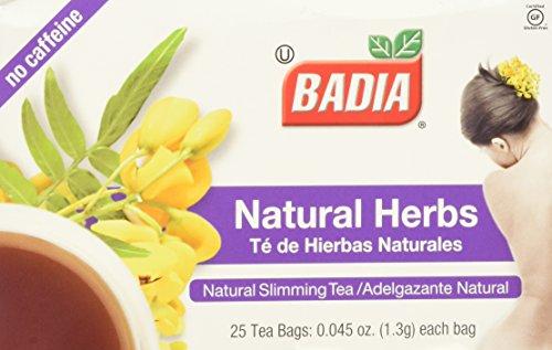 Badia - Natural Herbs Natural Slimming Tea Caffeine-Free - 25 Tea Bags
