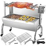 VEVOR BBQ - Barbecue con spiedo da Tavolo, con Motore per Barbecue, per Pollo, Agnello, bovino o arrosti, con spiedo Regolabile in Altezza Fino a 60 kg, Superficie griglia: ca. 88 x 44 cm