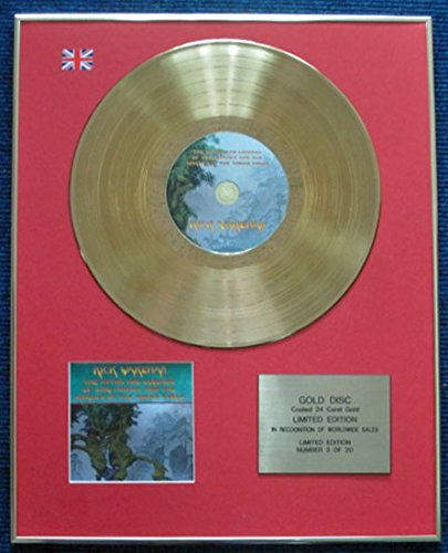 Rick Wakeman - Disco LP de edición limitada con revestimiento de oro de 24 quilates, diseño de los mitos y leyendas del rey Arturo y los caballeros de la mesa redonda