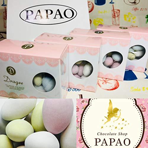 PAPAO(パパオ) 特別パッケージ4個セット箱付【天使のたまご】アーモンド・ドラジェ チョコレート(60g×4)