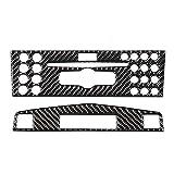 Qiilu Pannello di Rivestimento per consolle Centrale in Fibra di Carbonio Pannello di Rivestimento per consolle Centrale in Fibra di Carbonio Adatto per Mercedes Benz Classe C W204 2005-2012