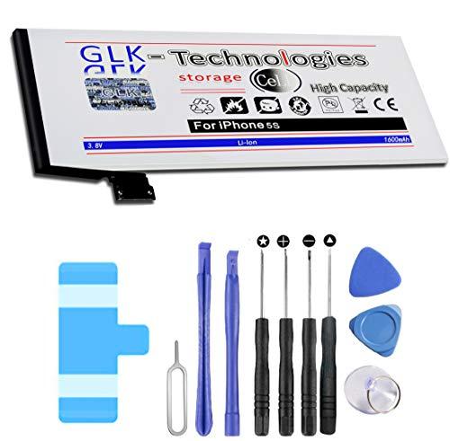 GLK Technologies - Batería de repuesto para iPhone 5S (1600 mAh, incluye kit de herramientas)