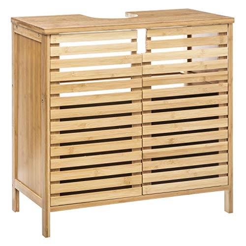 Instant D O Waschbeckenunterschrank aus Bambus Sicela, 60 x 58,5 cm, Braun
