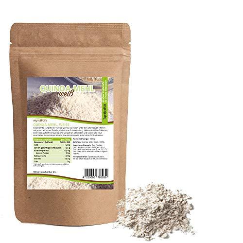 Mynatura Quinoa Mehl I Weiß I Quinoamehl I Getreide I Nährstoffreich I Mehlalternative I Kochen I Backen I Beutel (1 x 1000g)