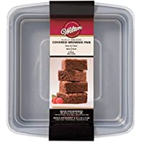 Wilton 2105-9199 - Molde cuadrado para brownies, 22,9 x 22,9 cm