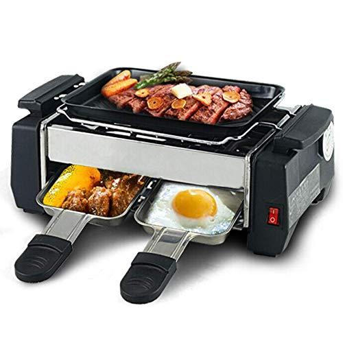 AOIWE Raclette eléctrico Parrilla Antiadherente para 2~4 Parejas Familia Familia Barbacoa sin...