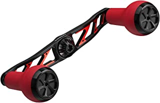 ゴメクサス (Gomexus) 2色 ダブル ハンドル 120 110mm 超剛性 シマノ ダイワ アブガルシア ベイト リール ビッグベイト用 タトゥーラ TW など用 本体超々ジュラルミン製 TPEノブ付き
