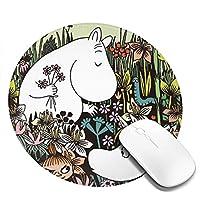 ムーミン マウスパッド おしゃれ 疲労低減 防水 滑り止め 水洗い 耐久性良い キーボードパッド ゲーミングマウスパッド ゲーム用 アニメ 20*20cm