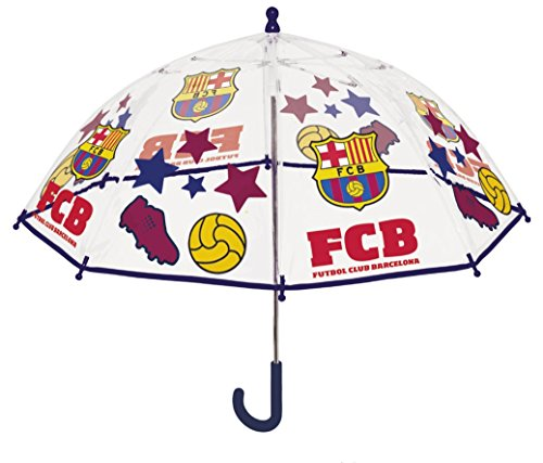 Perletti perletti15202 42 x 8 cm Unisex bedrukte Fc Barcelona veiligheid open paraplu