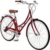Pure City Dutch Style Step-Thru 3-Speed Bicycle, 43cm/ Small, Melrose Oxblood Red