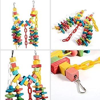 Jouets à mâcher en bois de cage de perroquet, balançoires suspendues pour oiseaux de compagnie, conception de crochet facile à connecter à la cage