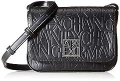 Idea Regalo - ARMANI EXCHANGE Liz - Small Shoulder Strap Borse a spalla Donna, Nero (Nero Black), 14x8x20 cm (B x H T)