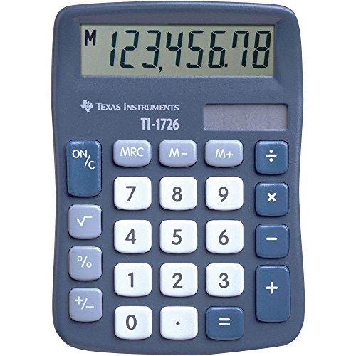 Texas Instruments TI-1726 Taschenrechner mit blauem Display – Taschenrechner (Tasche, Taschenrechner, 1 Linien, blau)