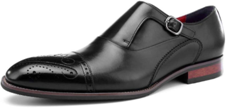 YCGCM Mann's Leather skor, British Carved Business Dress Dress Dress Point skor  äkta