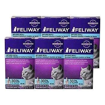 Feliway Plug-In Diffuser Refill 48 mL 6-Pack