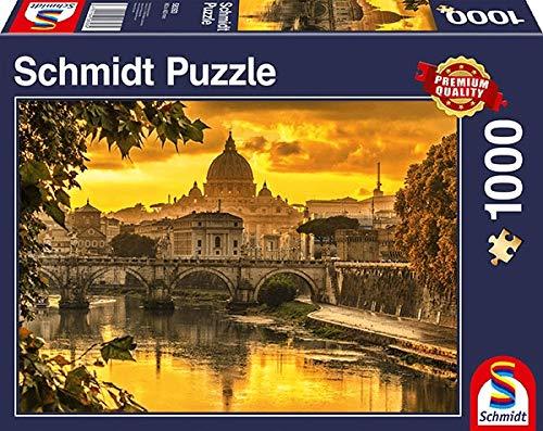 Schmidt Spiele Puzzle 58393 Goldenes Licht über Rom, 1.000 Teile Puzzle, bunt