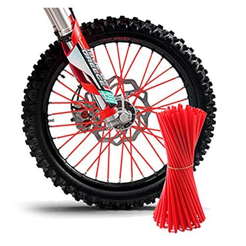 LIUXIAOKE Motorcycle Dirt Bike Enduro Off Road Rueda Rueda Rueda Skins Fit For Honda CRF 450 CR CRF XR XL 85 125 250 KTM Kawasaki Yamaha BMW (Color : Red)