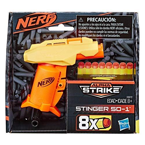 Hasbro Stinger SD-1 Nerf Alpha Strike Spielzeug-Blaster -- inklusive acht Nerf Elite Darts