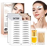 4D Hair-like Authentic Eyebrows, Eyebrow tattoo 4D Waterproof, Autocollants pour Sourcils 4D, Semi-Permanent Stick-On Eyebrows False for Women and Men