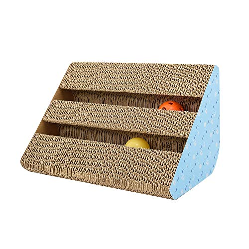 Homeng krasplank voor huisdier kittens kat krasballen speelgoed, kat bank klauwen slijpen board, Harden gegolfd papier huisdier kat speelgoed, Medium, A2