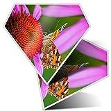 2 pegatinas de diamantes de 7,5 cm, diseño de mariposas de Vanessa Cardui, para ordenadores portátiles, tabletas, equipaje, chatarra, neveras, regalo fresco #14234