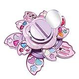 Phrat Estuche compacto para maquillaje para niñas y niños, caja de maquillaje en una divertida caja en forma de corazón, caja de maquillaje para niños   Set de belleza
