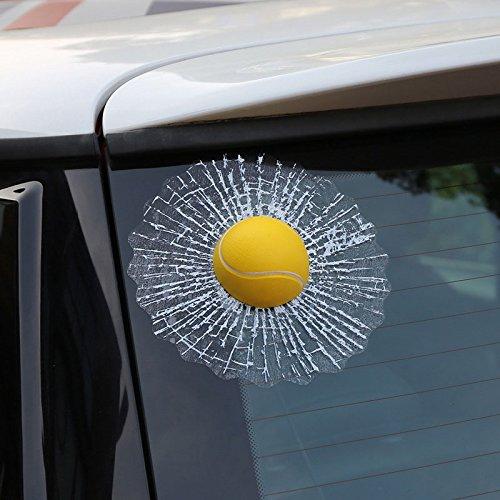 C-FUNN Creatieve Waterdichte PVC 3D Auto Raam Stickers Tennis Ball Hits Auto Body Decal White Football