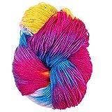 Ovillo de hilo de tejer de colores mezclado de 50 g/ovillo de hilo acrílico teñido a mano de ganchillo, Fibra acrílica., B, As Picture Show