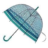 SPICE OF LIFE(スパイス) ビニール傘 ハッピー クリア ドーム アンブレラ ネイチャー 63.5cm ネイルガード グラスファイバー HHLG7160