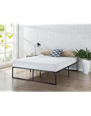 Zinus Lorelei 35,6 cm platform sängram/madrasbas/ingen boxfjäder krävs/säng in-a-box/snabb, enkel montering/90 x 200 cm