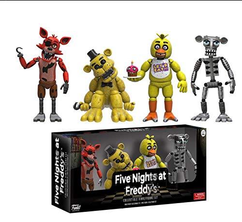 Teddybeer's vijf-nacht harem hand set van vier model hand kantoor poppen FUNKO pop teddybeer hand doen-Een set van 4 poppen (Golden Freddy)