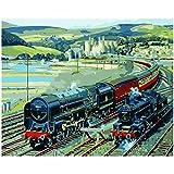 Hermosas Pinturas Digitales De Lienzo Hechas A Mano por Trenes De Alta Velocidad, Regalos Sorpresa, Grandes Logros -40X50CM-Frameless