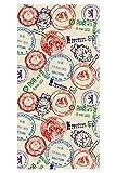 LimeWorks Badetuch, 70x140 cm, Motiv DDR Einreise-Stempel Checkpoint Charlie Ostalgie, Baumwolle/Mikrofaser, Made in EU