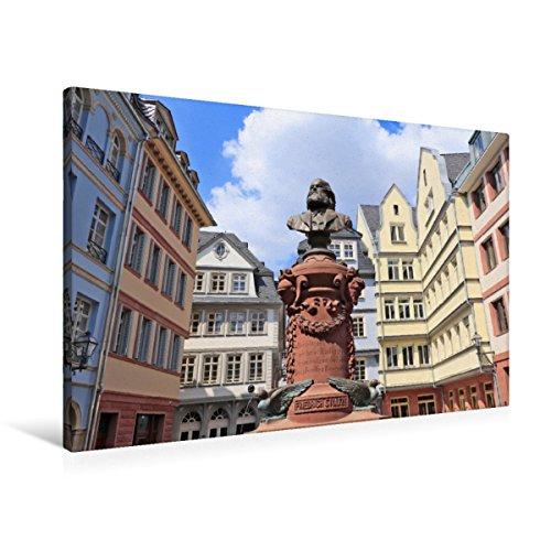 Premium Textil-Leinwand 90 x 60 cm Quer-Format Friedrich Stoltze Brunnen | Wandbild, HD-Bild auf Keilrahmen, Fertigbild auf hochwertigem Vlies, Leinwanddruck von Petrus Bodenstaff