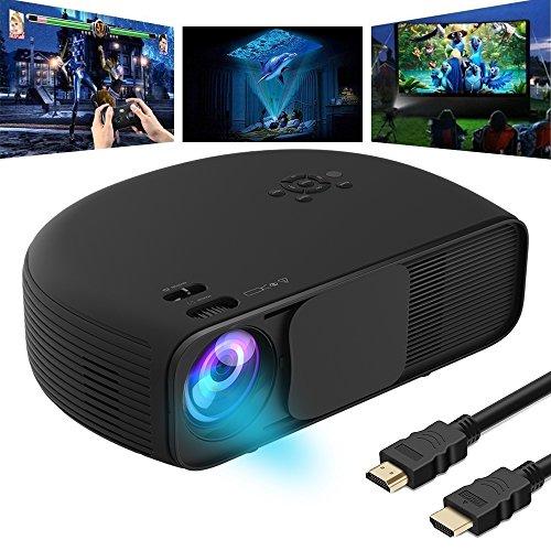 Videoproiettore Full HD, GOXMGO LED Proiettore iPhone Smartphone 3200 Lumen Portatile Supporto 1080p Home Cinema Ufficio Riunioni Educazione Presentazione per il Tablet PC Computer Proiettore