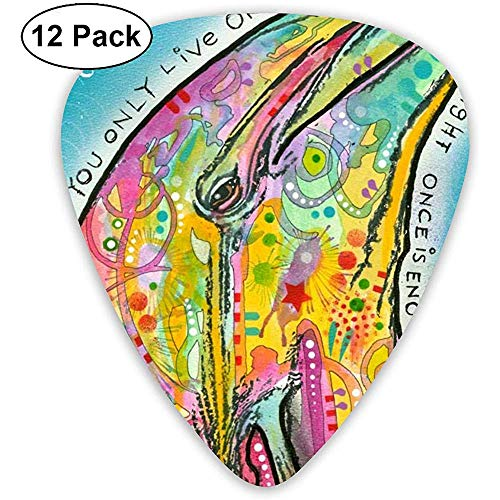Dean Russo Dolphin Guitar Picks, Guitar Plectrums 12 Pcs Incluye medidores finos, medianos y pesados