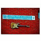Irlanda Rory Gallagher Corner Dublín Rompecabezas para Adultos, 300 Piezas, Rompecabezas de Madera para niños, Regalo de Viaje, Recuerdo, 16.5 × 12 Pulgadas