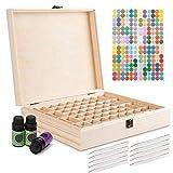 Caja de Madera de Almacenamiento de Aceite Esencial de 68 Ranuras - Almacenamiento 5-15 ml de Botellas de Aceites Esenciales y Perfume #3