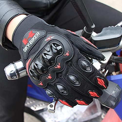 Guantes Protectores para Deportes al Aire Libre, Carreras de Motos de Cross-Country, Bicicletas, rojo-XL-B94