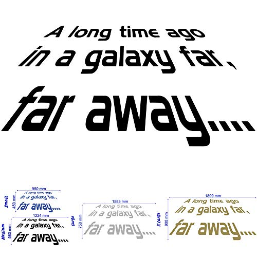 Star Wars - A long Time Ago - Wall Decal Art Sticker boy's bedroom playroom hall (Small) by Wondrous Wall Art