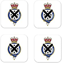 MyHeritageWear.com Christie Scotland Family Crest Square Coasters Coat of Arms Coasters - Set of 4