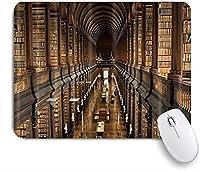 KAPANOU マウスパッド、ケンブリッジの教育装飾図書館 おしゃれ 耐久性が良い 滑り止めゴム底 ゲーミングなど適用 マウス 用ノートブックコンピュータマウスマット