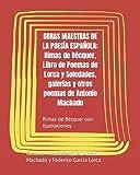 OBRAS MAESTRAS DE LA POESÍA ESPAÑOLA: Rimas de Bécquer, Libro de Poemas de Lorca y Soledades, galerías y otros poemas de Antonio Machado: Rimas de Becquer con Ilustraciones