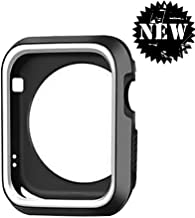 DECVO for Apple Watch Case, Shock-proof and Shatter-resistant Protective Case Defense Edge Premium Aluminum & TPU Bumper Frame for Apple Watch Series 3/Series 2/Series 1 and Edition 42mm M/L (Gray)