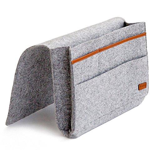 AHZZY Bolsa de almacenamiento para mesilla de noche, organizador de almacenamiento con bolsillos, soporte para colgar para cama, dormitorios o camas