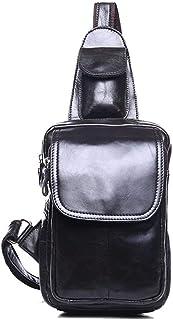 Fresh wild simple fashion Men's Chest Bag For Men For Women Travel Hiking School Sling Bag Leather Chest Shoulder Backpack...